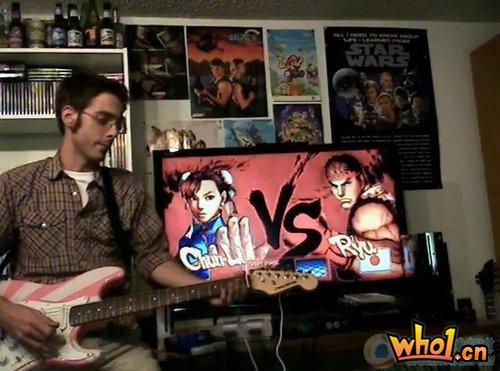国外玩家自制视频:用吉他玩街头霸王IV
